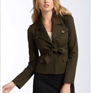 Bailey 44 short belted olive military style jacket